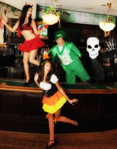 The Halloween party goes on all weekend at McFaddens. Photo by Denise Truscello.