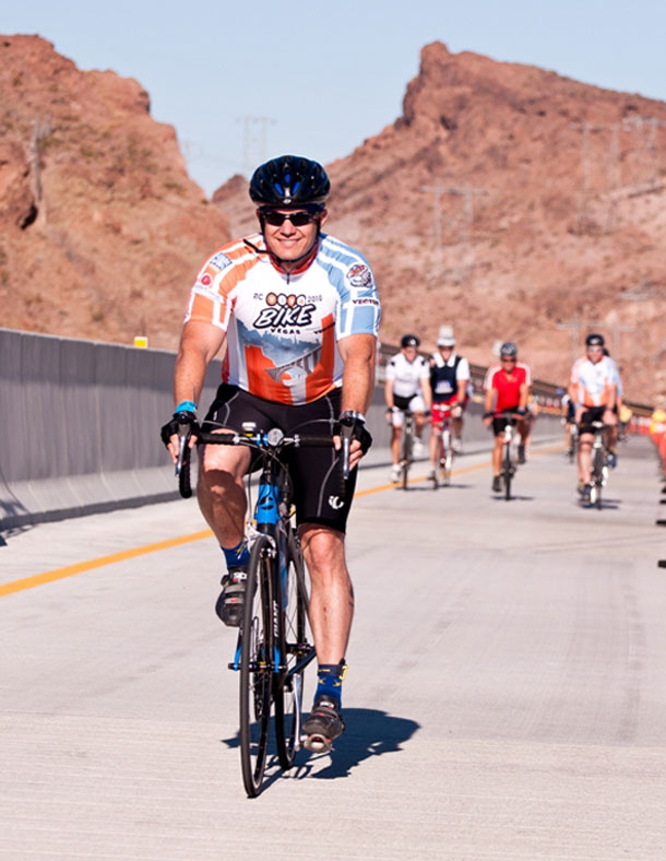 RTC General Manager Jacob Snow enjoys last year's Viva Bike Vegas.