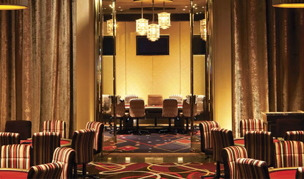 The poker room at Aria