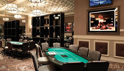 The poker room at Caesars Palace