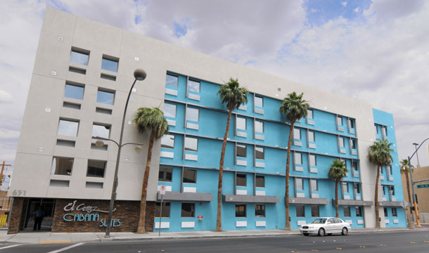 The boutique-style El Cortez Cabana Suites in downtown Las Vegas
