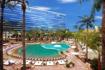 One of the beach-like swimming pools at the Hard Rock Hotel