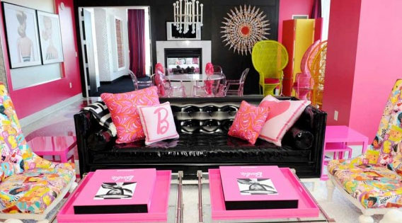 The Barbie Suite in the Fantasy Tower at the Palms