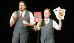 Penn and Teller blend comedy and magic in one seamless package.