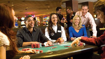 The poker room at Rio