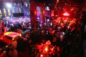 Nightclub patrons pack the dance floor at Tao in the Venetian early