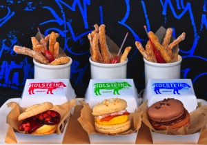 Sliders and fries are for dessert at Holstein's.