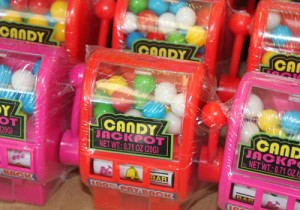 These gumball machines ($1.99) are portable.