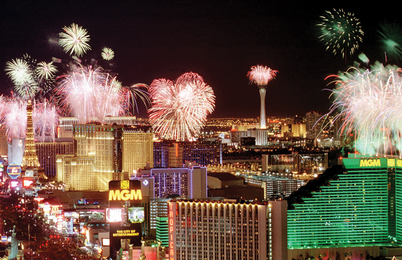Americas party new years vegas strip