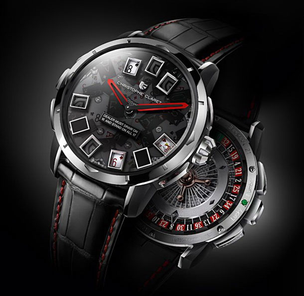 The new Christophe Claret 21 Blackjack watch is a multi-faceted timepiece that can play casino games.