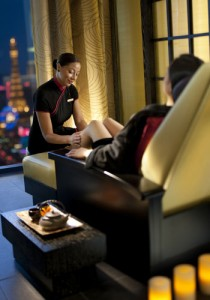 Pamper yourself with a treatment at The Foot Spa at Mandarin Oriental Las Vegas.