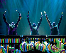 Enjoy the sights, sounds and color of the Blue Man Group at The Venetian.