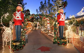 The Magical Forest at Opportunity Village has it all – from decorated trees to a carousel and passenger train.