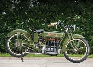 A 1926 Cleveland Fowler.  One of 100 motorcycles built in the 600cc four-cylinder, four-stroke engine format designed by F.E. Fowler, this Cleveland is believed to be the sole complete example remaining today. Photo Courtesy of Auctions America by RM.