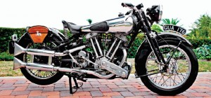 1939 Brough Superior SS80. This motorcycle is from the last year of production and is 1 of 460 built. Only approximately 300 survive. Photo courtesy of MidAmerica Auctions.