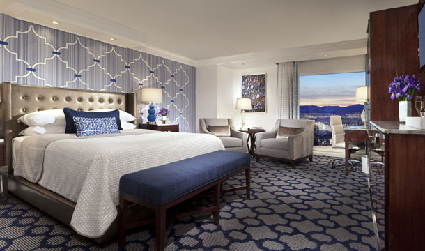 Indigo and Silver King Room at Bellagio