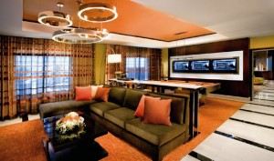 The living area of the penthouse suite in HOTEL32 at Monte Carlo