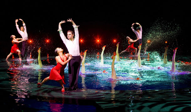 "A fabulous tango takes place above and below the water in ""Le Rêve – The Dream"" at Wynn Las Vegas."