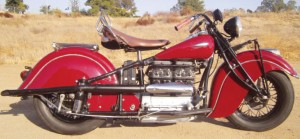 Steve McQueen's 1940 Indian Four Cylinder. Photo courtesy of MidAmerica Auctions.