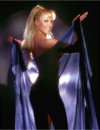 Melinda performing during the '90s.