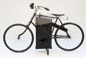 A 1894 Roper Steam Motorcycle, one of the world's oldest motorcycles. This motorcycle may set a world record for a motorcycle sold at auction. Photo courtesy of Auctions America by RM.