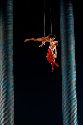 "The Forest Duet, an acrobatic number in ""KÀ"" at MGM Grand"