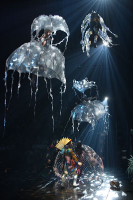 """The Octopus' Garden in """"LOVE"""" at The Mirage (Photo by Richard Termine)"""