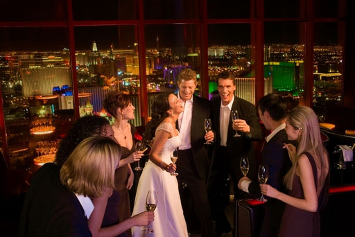 At Mandalay Bay weddings can be held high above the Strip.