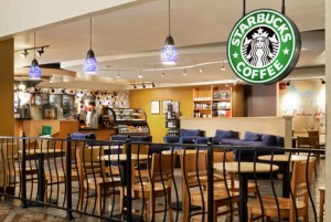 Starbucks at The Westin, one of many locations where wireless internet is available free of charge