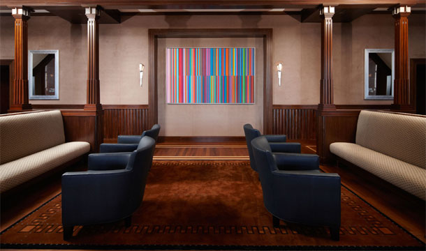 Painting in The Smith Center by Tim Bavington. Photo by Jennifer Whitehair