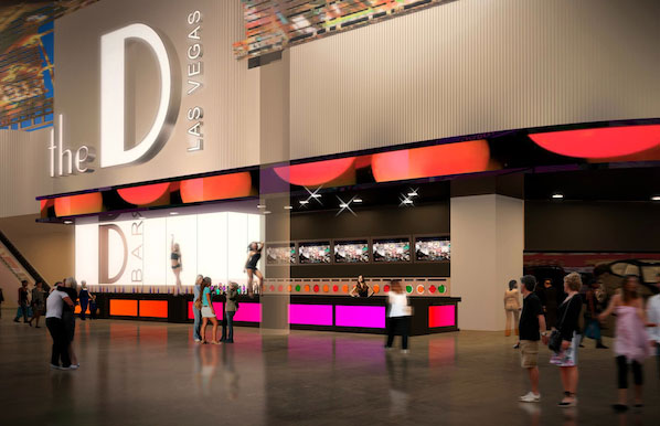 A rendering of the D Bar at The D Las Vegas