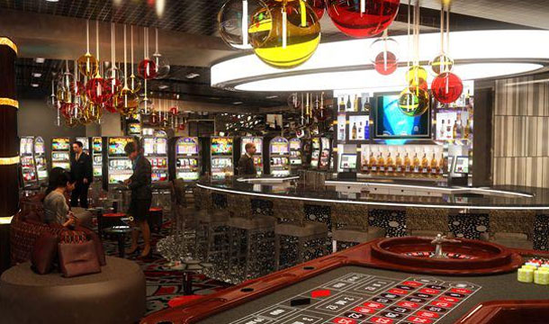 A rendering of Bar 46 at Golden Nugget