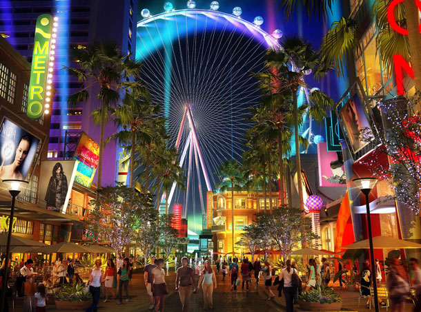 A rendering of the pedestrian-friendly Linq