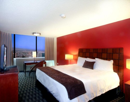 A rendering of a room at The D Las Vegas