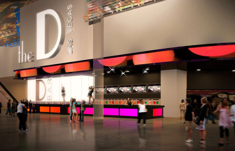 A rendering of the facade at The D Las Vegas
