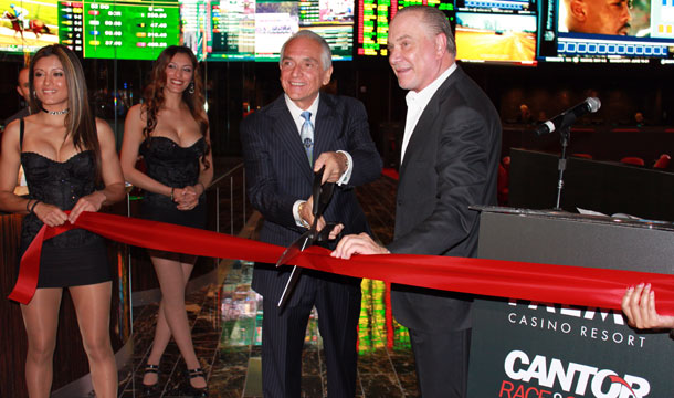 The ribbon cutting for the new Cantor Race and Sports Book at the Palms