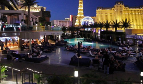 A view of the Strip from the Dive In Movies