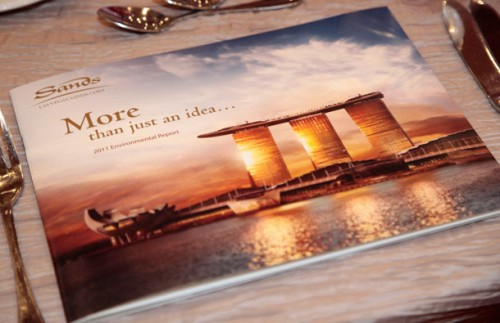 The 2011 Environmental Report released by Las Vegas Sands Corp.