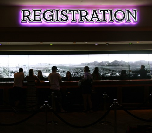 The Registration area at the Hard Rock Hotel & Casino