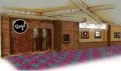 A rendering of the Vinyl music venue