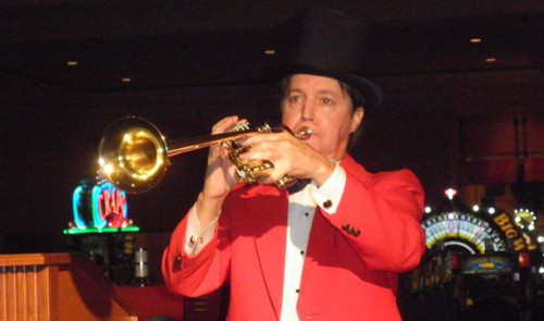 Bugler at the South Point for virtual horse racing