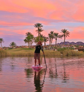 Standup paddleboarding at The Westin Lake Las Vegas Resort & Spa