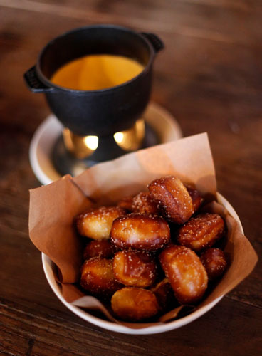 Pretzel bites from the Culinary Dropout