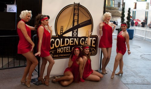 Flappers at the Golden Gate Hotel & Casino relaunch party