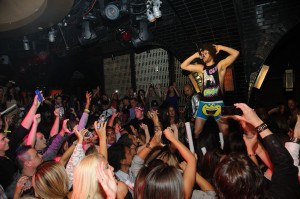 Redfoo, of the music duo LMFAO and the Party Rock crew at LAVO