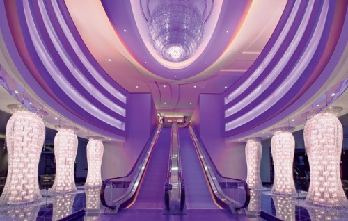 The lobby at the Planet Hollywood Resort & Casino