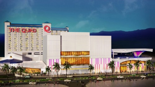 A rendering of the exterior of The Quad Resort & Casino