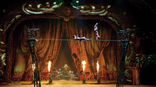 "The high wire in ""Zarkana"" by Cirque du Soleil at Aria"