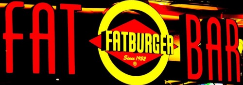 Signage for Fat Bar at Fatburger on the Las Vegas Strip