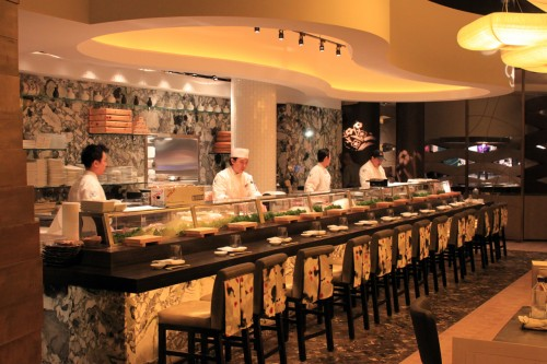 The sushi bar at Nobu Restaurant and Lounge